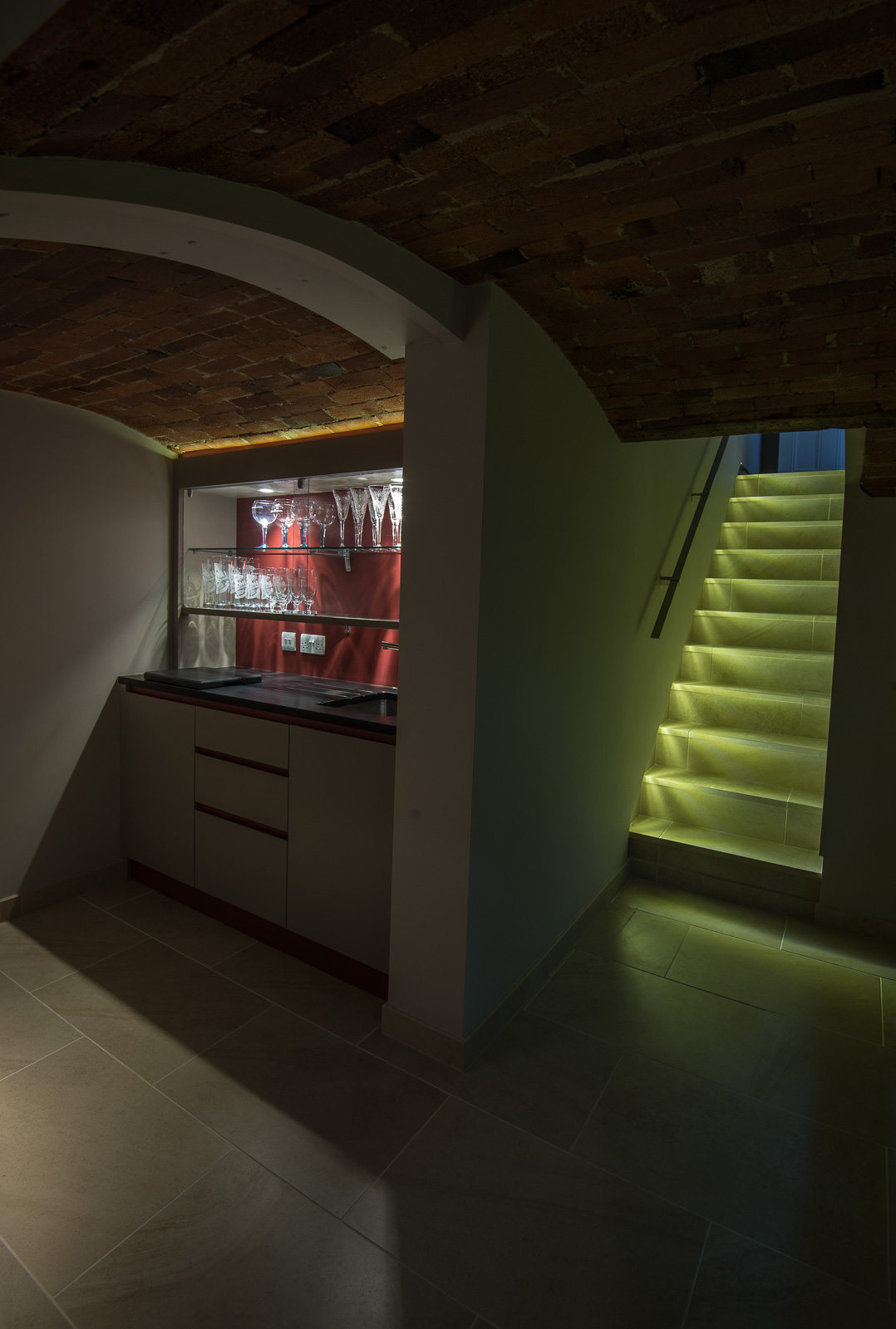 basement-stairs-and-bar-area