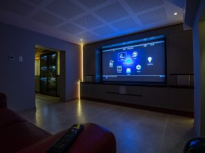 The home cinema room in all its glory